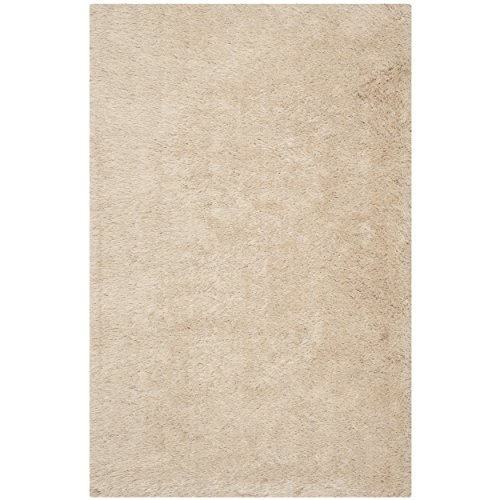 Safavieh Venice Shag Collection SG256C Handmade Champagne Polyester Area Rug (8' x 10')