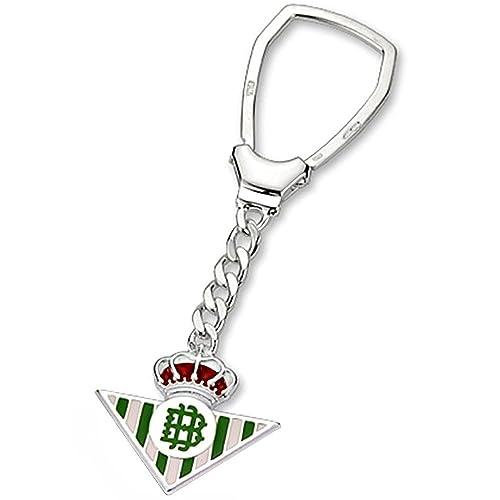 Llavero escudo Real Betis plata de ley esmaltado [8624 ...