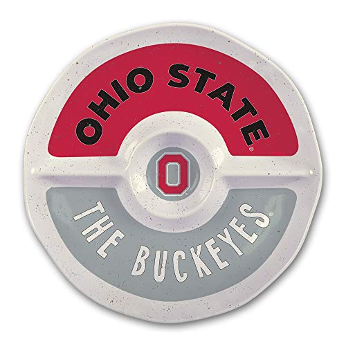 (Ohio State University Heavy Weight Melamine Divided Tray)