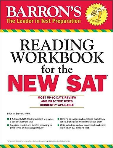 Amazon.com: Barron's Reading Workbook for the NEW SAT (Critical ...