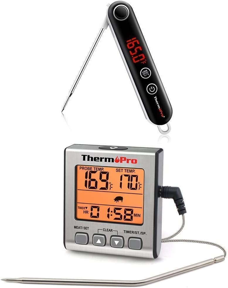 ThermPro TP18 Ultra Fast Thermocouple Thermometer + ThermoPro TP16S Digital Meat Thermometer