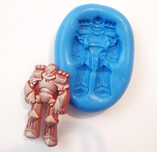 Transformers Robot Flexible Food Grade Silicone Push Mold for Polymer Clay, Resin,wax,miniature - Transformer Grade