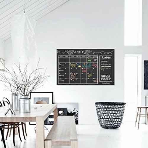 "Large Erasable Chalkboard Calendar Wall Decal Sticker - 24""x 36"" (Classic Style) by VersaChalk Photo #4"