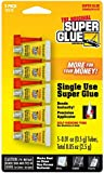 Super Glue 15175 Mini Single Use Tubes 5-Pack