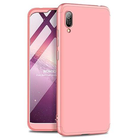 PAIPAIGUAN Funda Huawei Y6 2019 Carcasa[Protector de Pantalla de Vidrio Templado] 3 en 1 Desmontable Anti-Arañazos Huawei Y6 2019/Y6 Pro 2019 Funda ...