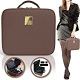 Deluxe Makeup Organizer Bag | Traveling Cosmetic Storage Box with Easy Adjustable Dividers | Perfect Carrying Case for Travel or In House Organizing | Multiple Compartments for Makeup, Jewelry & More