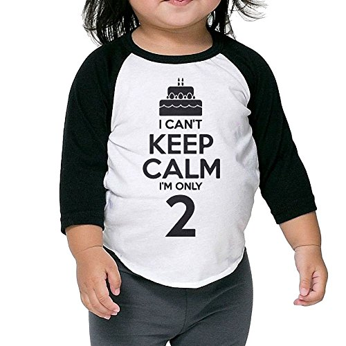 Price comparison product image Hanxiaoxiao Kids I Can't Keep Calm I'm Two Children Cute 2 Years Old Humor Sports Black Cute Shirts 3 Toddler Crew Neck 1/2 Sleeve Raglan T-Shirt