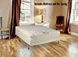 Spring Solution Long Lasting 10'' Pillowtop Fully Assembled Orthopedic Back Support  Twin XL Mattress and5-Inch Box Spring, Deluxe Collection