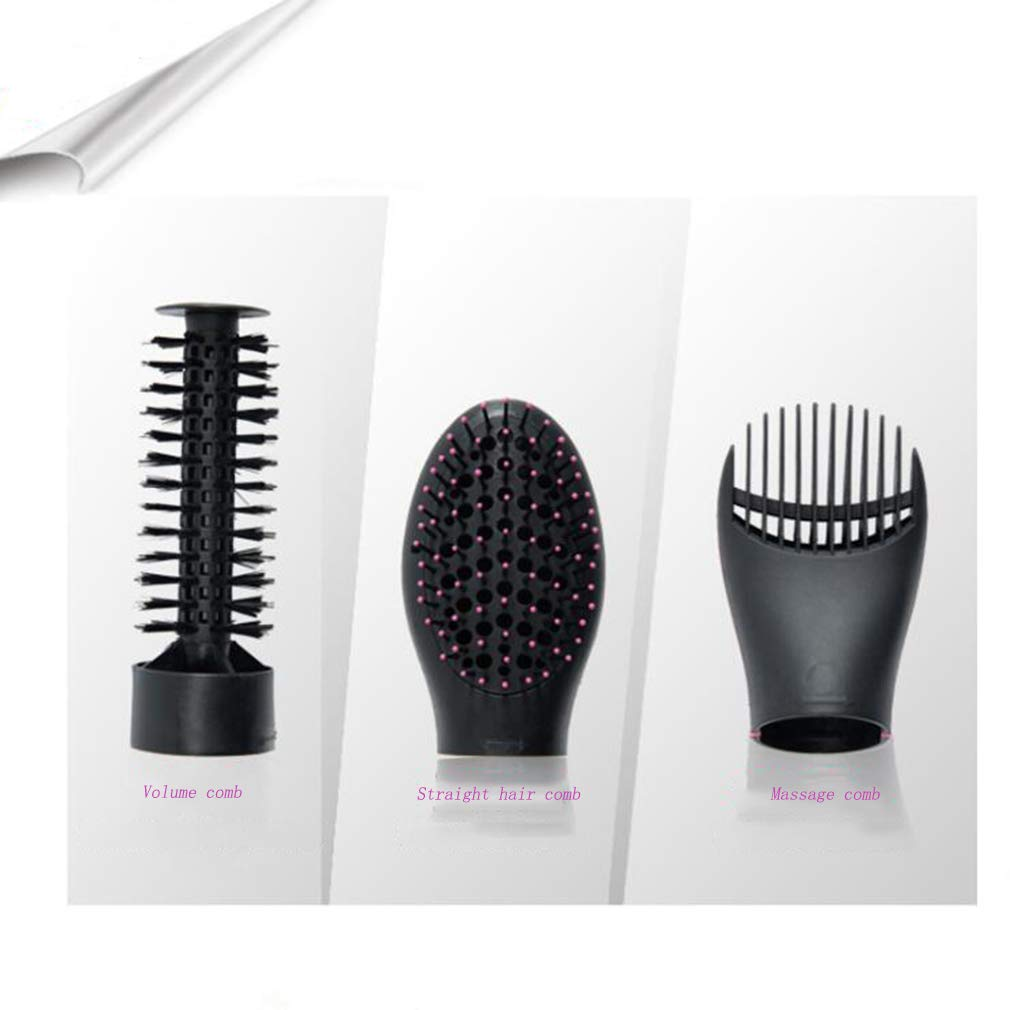 MTXLN One Step Hair Dryer & Hot Air Comb |Multifunction Styler | 3 in 1 Hot Air Hair Curling Straight Comb Anion Hair Dryer for All Hair Types | EliminateFrizzing (Black) by MTXLN (Image #2)