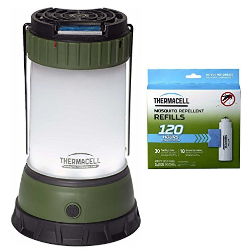 Thermacell MR-CLC Scout Mosquito Repeller plus Camp Lantern & R-10 Mega Refill Pack (Protects for 120 Hours) - 10 Hour Insect Repellent