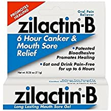 Zilactin-B Oral Pain Reliever, Long Lasting Mouth Sore Gel 0.25 oz (Pack of 4)