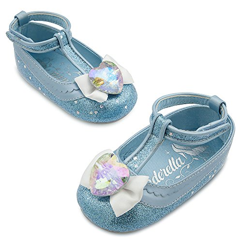 Cinderella Halloween Costume 2016 (Disney Store Deluxe Cinderella Costume Shoes for Baby Girls Size 0 - 6 Months)