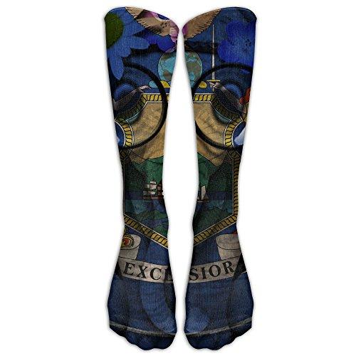 Albany Ny Costumes (New York State Emblem Compression Socks Tube Socks Athletic Socks Performance Socks Knee Socks Crew Socks High Socks Basketball Socks Volleyball Socks)