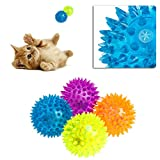 Delight eShop Cute Dog Puppy Cat Pet Led Whistle Squeaker Rubber Chew Bell Ball Playing Toy