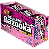 Bazooka Bubble Gum, Sugar Free Original, 60 Count To Go Cup (Pack of 6)