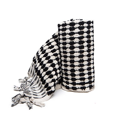 Black White Bath Towels (Addicted to Soap - Turkish Black White Hand Towel)