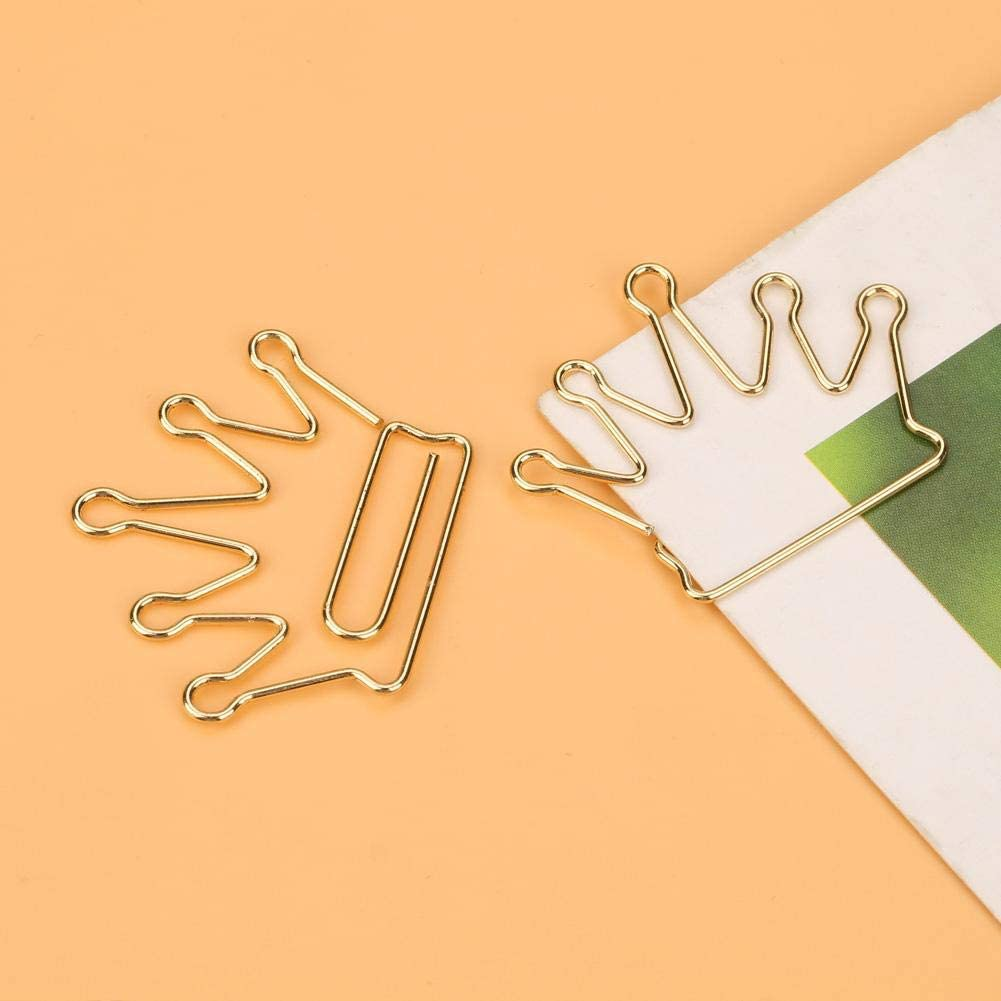 Bewinner Colorful/Paper/Clips,10pcs Crown Shape Paper Clips Bookmark Marking Document Organizing Clip Stationery Supplies,Creative Shape Design Makes These Clips Unique