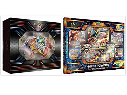 (Pokemon TCG The Best of XY Premium Trainer Collection Box and Mega Powers Premium Collection Box Card Game Bundle, 1 of Each)