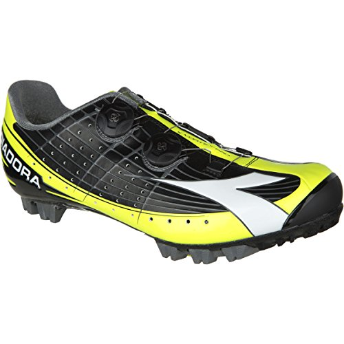 Diadora X-Vortex Pro Shoes - Men's Black/Yellow Fluo/White, 43.5