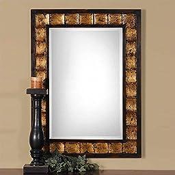 Uttermost Justus Wood Mirror - 28W x 38H in.