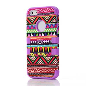 Popular fashion tribe type design phone case for iPhone 5 purple back cover