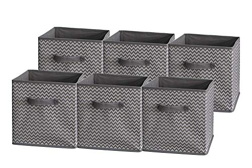 Price comparison product image Foldable Cloth Storage Cube Basket Bins Organizer Containers Drawers,  6 Pack