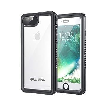 Lanhiem Funda Impermeable iPhone 6 Plus iPhone 6s Plus, Carcasa Sumergible Resistente Al Agua IP68 [Protección de 360 Grados], Carcasa con Protector ...