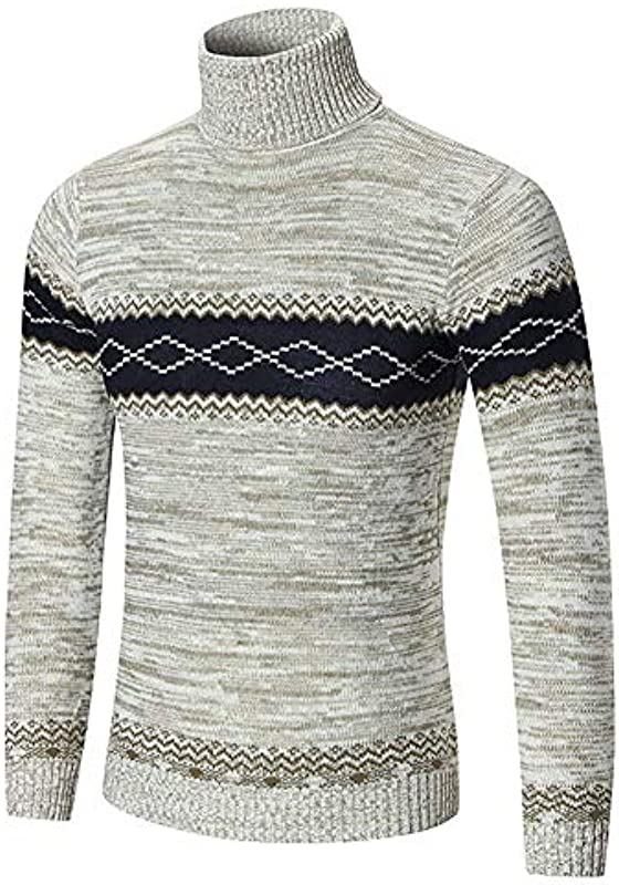 Męska bluza wysoka zawartość bawełny sweter Jumpers Top sweter dzianinowy ubranie Fashion Casual ciepły długi rękaw nadruk sweter z rolkowym kołnierzem: Odzież