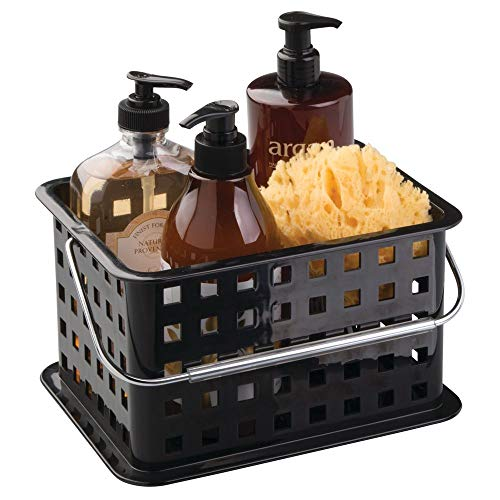 (InterDesign Storage Organizer Basket, for Bathroom, Health and Beauty Products - Small, Black)
