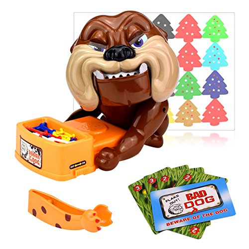 Flantor 2018 Latest Funny Parent Child Games Beware of The Dog Don't Wake The Dog Toys, Funny Electronic Pet Dog Toys Bad Dog Gnaw Bones(ABS) by US ()