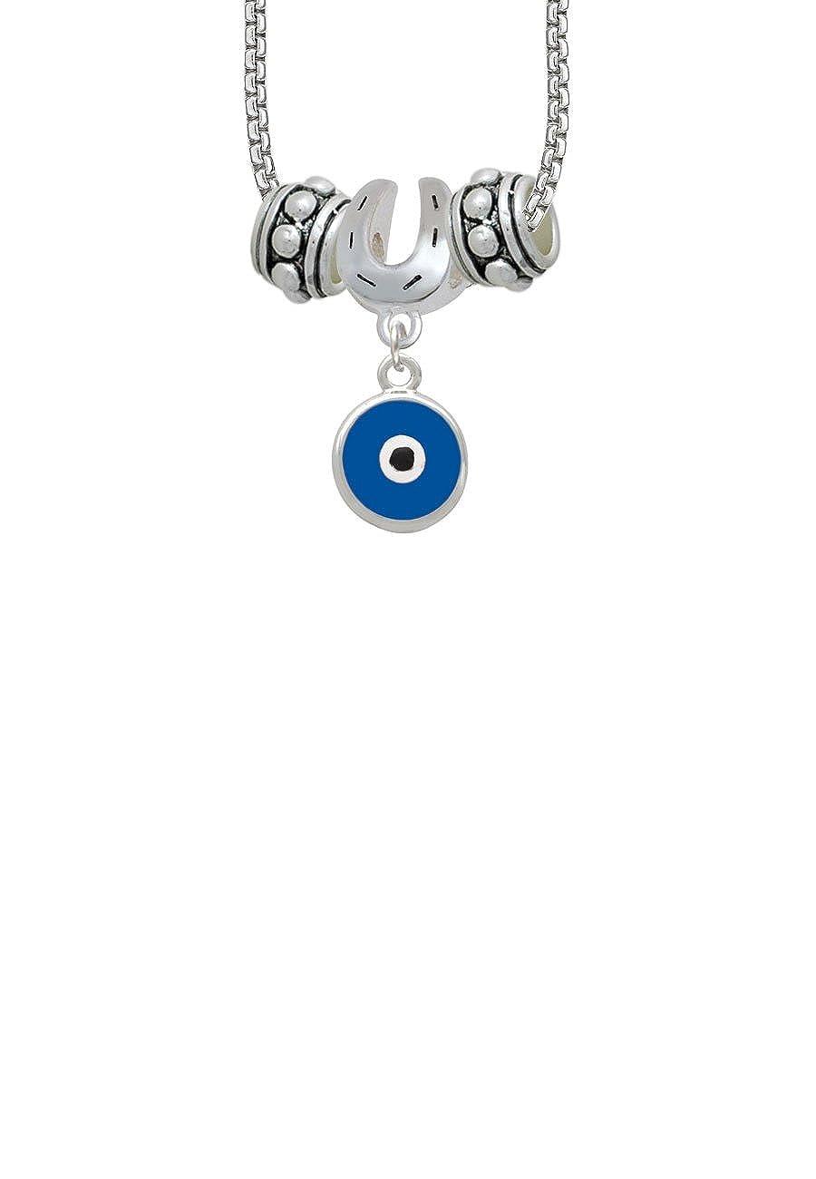 Delight Jewelry Evil Eye Good Luck Horseshoe 3 Bead Necklace
