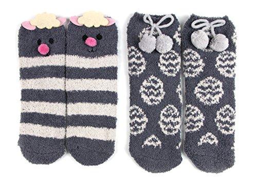Red Bene Women's Easter Animal Fuzzy Socks Lamb Gift Box Set