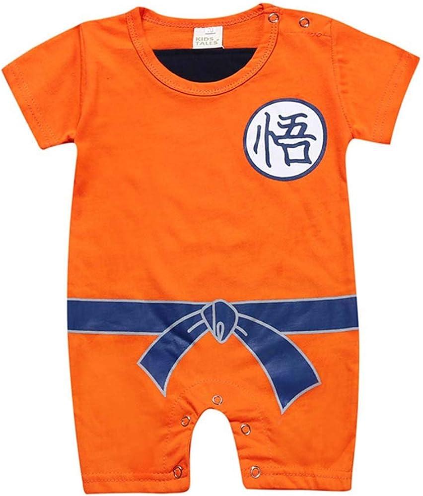 keephen Baby Boys Romper Jumpsuit Personajes Chinos Dragon Ball Sun Goku Disfraz Linda Ropa de algodón