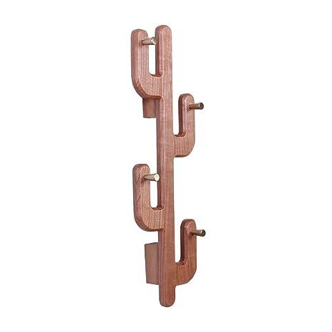 Amazon.com: Perchero de pared de hierro forjado con ganchos ...