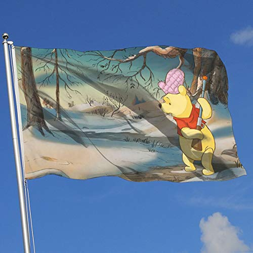 (LJIAQI Winnie The Pooh Flag 3x5 Ft Single-Sided Printed Polyester Home Flag Banner)