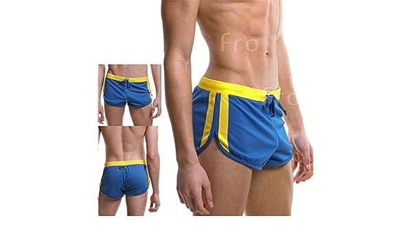099a6233c2 Amazon.com  Omkuwl Men S Swimwear Summer Style Trunks Beach Swimming Trunks  Boxer Shorts Briefs Blue L  Home   Kitchen