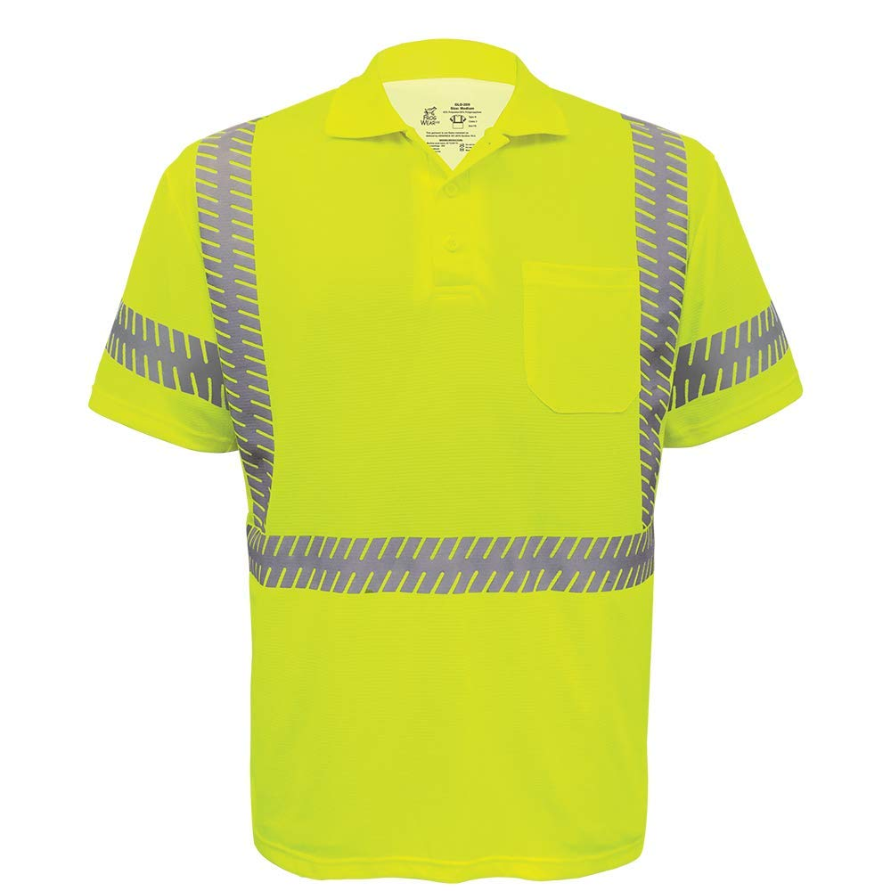 Global Glove GLO-209 - FrogWear HV - Premium High-Visibility Polo Shirt - 2X-Large