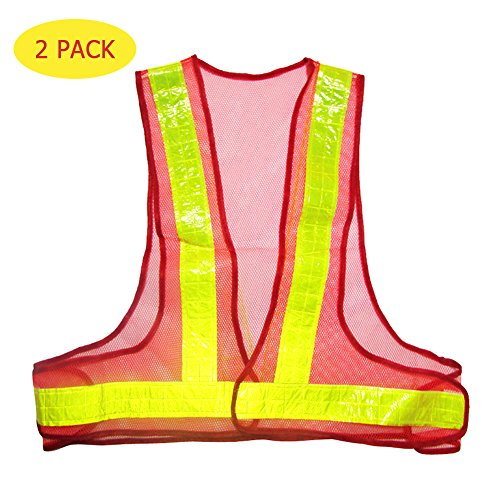 Working Traffic Light Costume (LOKEP 2 Pcs Reflective Vest Traffic Visibility Warning Stripes High Visibility Safety Gear Security Reflective Gear for Exercising Running Cycling Walking or Working in Dark Light)