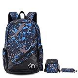 Backpack - Bageek Travel BackpacK Men Daypack College Bookbag Rucksack 3PCS Set