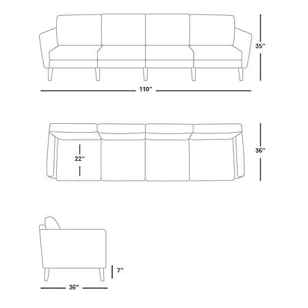 Amazon.com: Burrow - Sofá con cargador, Cuero: Kitchen & Dining