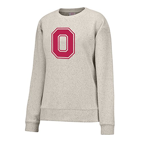 NCAA Ohio State Buckeyes Women's Innovator Crew Sweater, Large, Oatmeal
