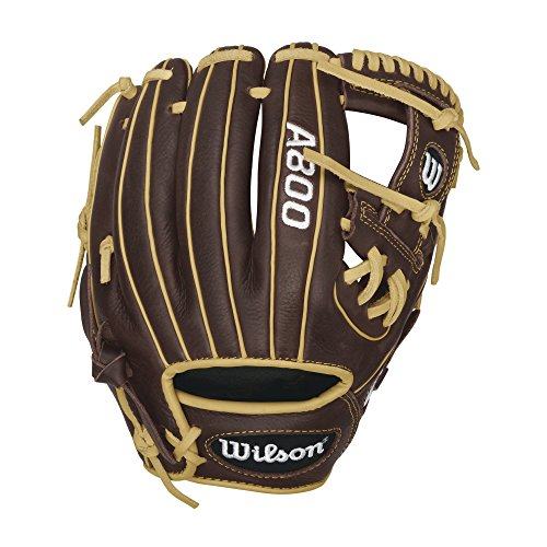 "Wilson Showtime Pedroia Fit Baseball Gloves, Brown/Blonde, 11.5"", Right Hand Throw"