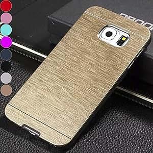 GX 20150511 df color sólido de lujo de alta calidad cepilló la caja dura de aluminio para samsung galaxy s6 (colores surtidos) , Silver