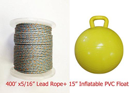 KUFA Sports 5/16 x 400' Lead Core Rope & 15'' Inflatable Yellow Floats by KUFA Sports