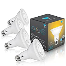 Triangle Bulbs (Pack Of 4) 12-Watt (75-Watt) PAR30 LED Flood Light Bulb, Dimmable, UL Listed, Energy star certified,