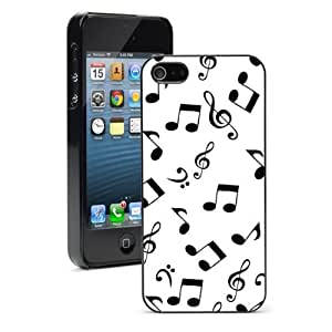 For iPhone 5 5S Hard Case Cover Music Notes -01