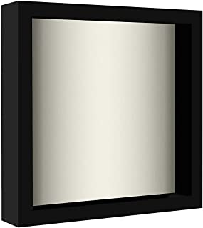 product image for flag connections Black Shadow Box Frame with Linen Background - 8x8 Inches