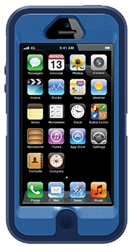 OtterBox Defender Series Case for iPhone 5 ( Not for iPhone 5C or 5S)(Discontinued by Manufacturer) - Blue/Navy