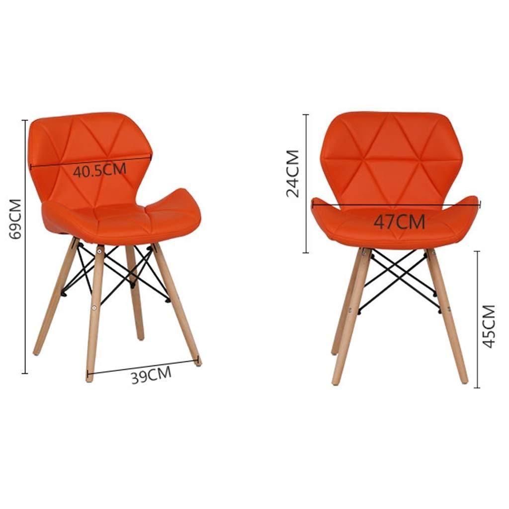 HEJINXL matrumsstolar, läder ryggstöd fjärilsstol sits med bokben för kontor köksstol passar alla avdelningssteg (färg: D) e