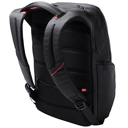 Business Laptop Rucksack mit USB-Ladeanschluss, diebstahlsichere Reisetasche, Tagesrucksack für die Stadt und Geschäftsmänner und -frauen, Kapazität für 17-Zoll Laptops (schwarz) Schwarz